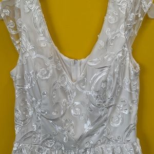 Short Off White Cocktail Dress